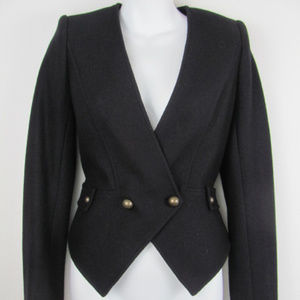 7 for all Mankind Wool Blend Black Jacket XS
